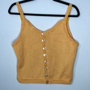 Vintage buttons down knit tank top